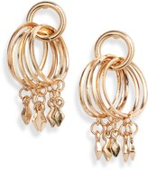 Ettika Bar Charm Hoop Earrings