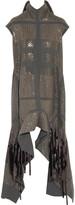 Rick Owens Sequin-embellished silk turtleneck top