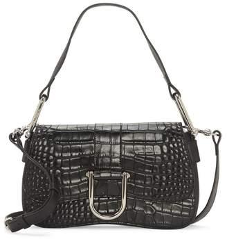 Vince Camuto Tal Leather Croc Embossed Shoulder Bag