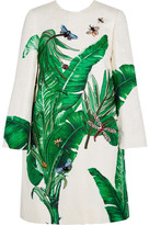 Dolce & Gabbana Embellished Embroidered Cotton And Silk-blend Brocade Coat - Green