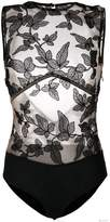 I.D. Sarrieri I.D.Sarrieri lace-embroidered bodysuit