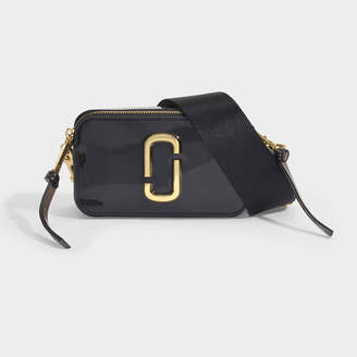 Marc Jacobs The Jelly Snapshot Bag In Black Pvc
