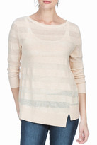 Lilla P Wrapped Seam Boat Neck Sweater