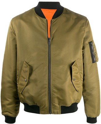 Moschino Pumpkin Face reversible bomber jacket