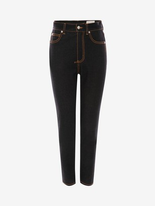 Alexander McQueen High-Waisted Denim Pants