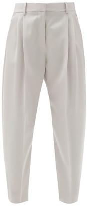 Stella McCartney Dawson Tailored Wool Trousers - Grey