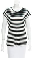 L'Agence Striped Cap Sleeve T-Shirt