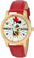 Disney Women's 'Minnie Mouse' Quartz Metal Watch, Color: (Model: W002796)