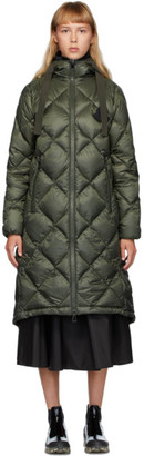 Moncler Green Down Duroc Diamond Coat