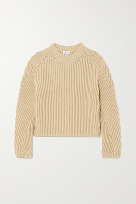 Acne Studios Ribbed Cotton-blend Sweater - Beige