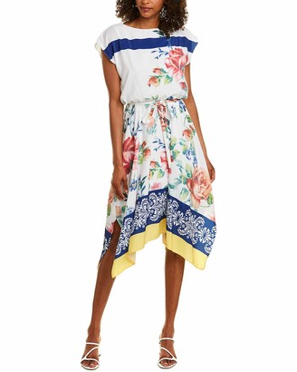 Maggy London Women's Printed Blouson Fit and Flare