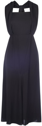 Prada Square-Neck Long Dress