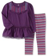 Kids Headquarters Little Girl's Two-Piece Pleated Tunic & Leggings Set