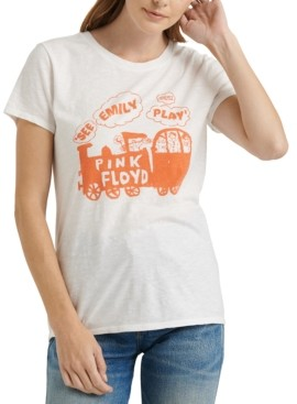 Lucky Brand Pink Floyd Train Graphic T-Shirt