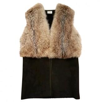 Bel Air Black Fur Coat for Women