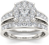 MODERN BRIDE 1 1/2 CT. T.W. Diamond 10K White Gold Bridal Set