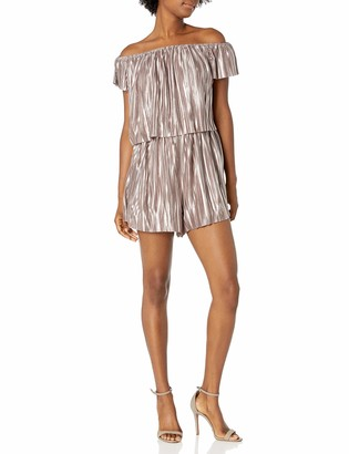 GUESS Women's Off The Shoulder Emerson Romper