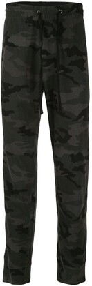 James Perse Rigid camouflage trousers
