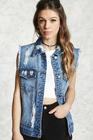 Forever 21 FOREVER 21+ Distressed Denim Vest