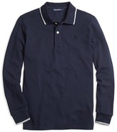 Brooks Brothers Boys' Color Tipped Pique Polo Shirt - Sizes XS-XL