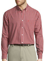 Dockers Signature Long-Sleeve Mini-Check Woven Shirt