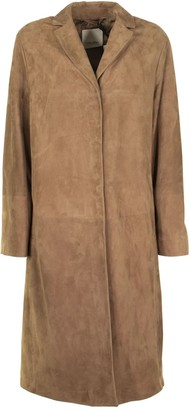 Max Mara Suede Duster Coat Radio Brown
