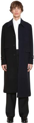 Loewe Asymmetric Wool & Cashmere Bicolor Coat