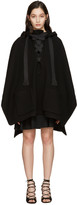 Chloé Black Giant Ribbon Poncho