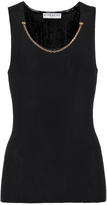 Givenchy Embellished knit tank top