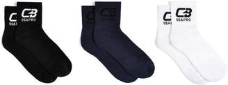 USA Pro Pro X Courtney Black Short Crew Socks