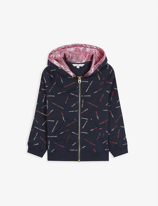 Little Marc Logo print cotton hoody 4-14 years