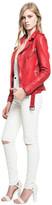 LAMARQUE - Kiyoshi Belted Biker Jacket In Formula One Red