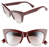 Fendi Women's 52Mm Cat Eye Sunglasses - Black/ Pink