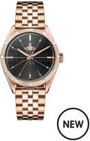 Vivienne Westwood Vivienne Westwood Conduit Black And Gold Detail Logo Dial Gold Stainless Steel Bracelet Mens Watch