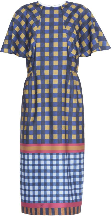 Stella Jean Check Patterned Dress