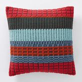 west elm Margo Selby Woven Block Pillow Cover - Red