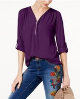 INC International Concepts Mixed-Media Utility Top, Created for Macy's