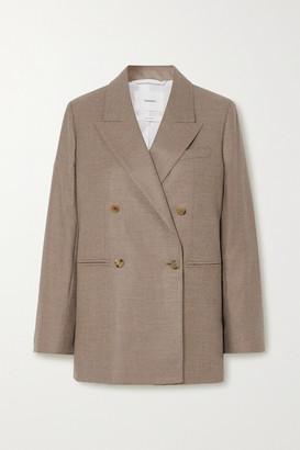 CASASOLA Net Sustain Carioca Double-breasted Wool And Silk-blend Blazer - Beige