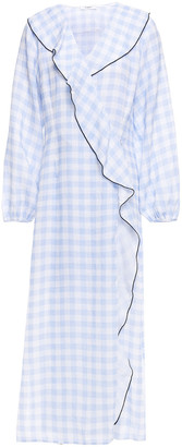 Marysia Swim Ruffled Gingham Linen Midi Dress