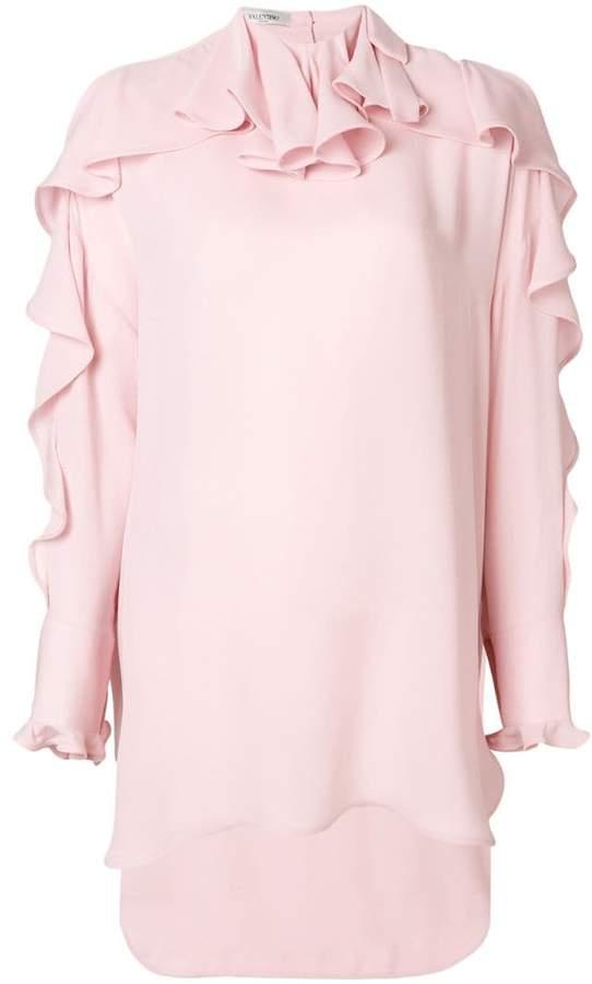 Valentino asymmetric ruffle blouse