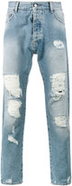 Palm Angels regular fit ripped jeans - men - Cotton/Polyester - 28