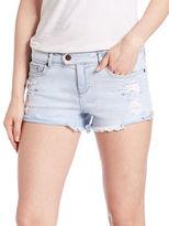 Dittos Destroyed Denim Cutoff Shorts- Blue
