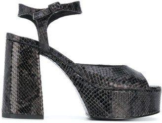 Vic Matié Snake Effect 120mm Sandals