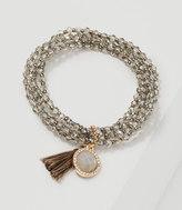 LOFT Tasseled Beaded Stretch Bracelet