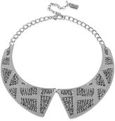 Kenneth Cole New York Necklace, Silver-Tone Pave Peter Pan Collar Necklace