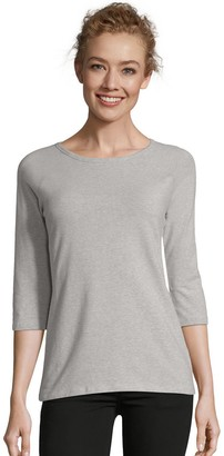 Hanes Women's Three-Quarter Sleeve Raglan Tee