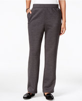 Karen Scott Pull-On Fleece Pants, Only at Macy's
