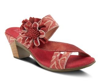 Spring Step L'Artiste By Leather Slide Sandals- Cassana
