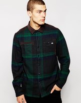 Dickies Check Shirt With Cord Collar - Green
