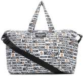 Moschino Kids Baby printed cotton changing bag